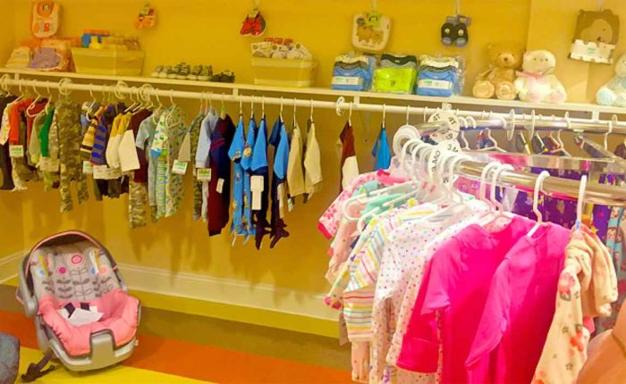 Through the generosity of supporters, the Women's Care Center in Overlea is stocked with clothing, car seats and other supplies for expecting parents . (Kevin J. Parks/CR Staff)