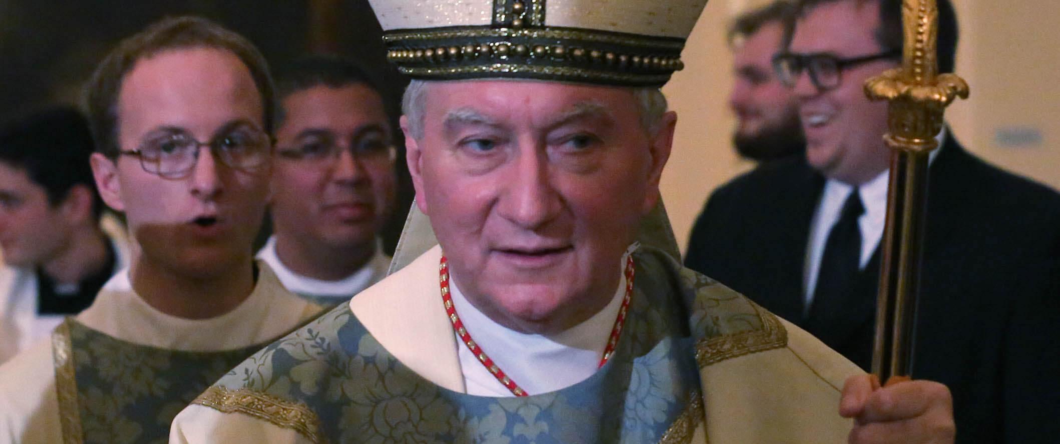 At Baltimore Mass Cardinal Parolin Praises Usccb For Century Of