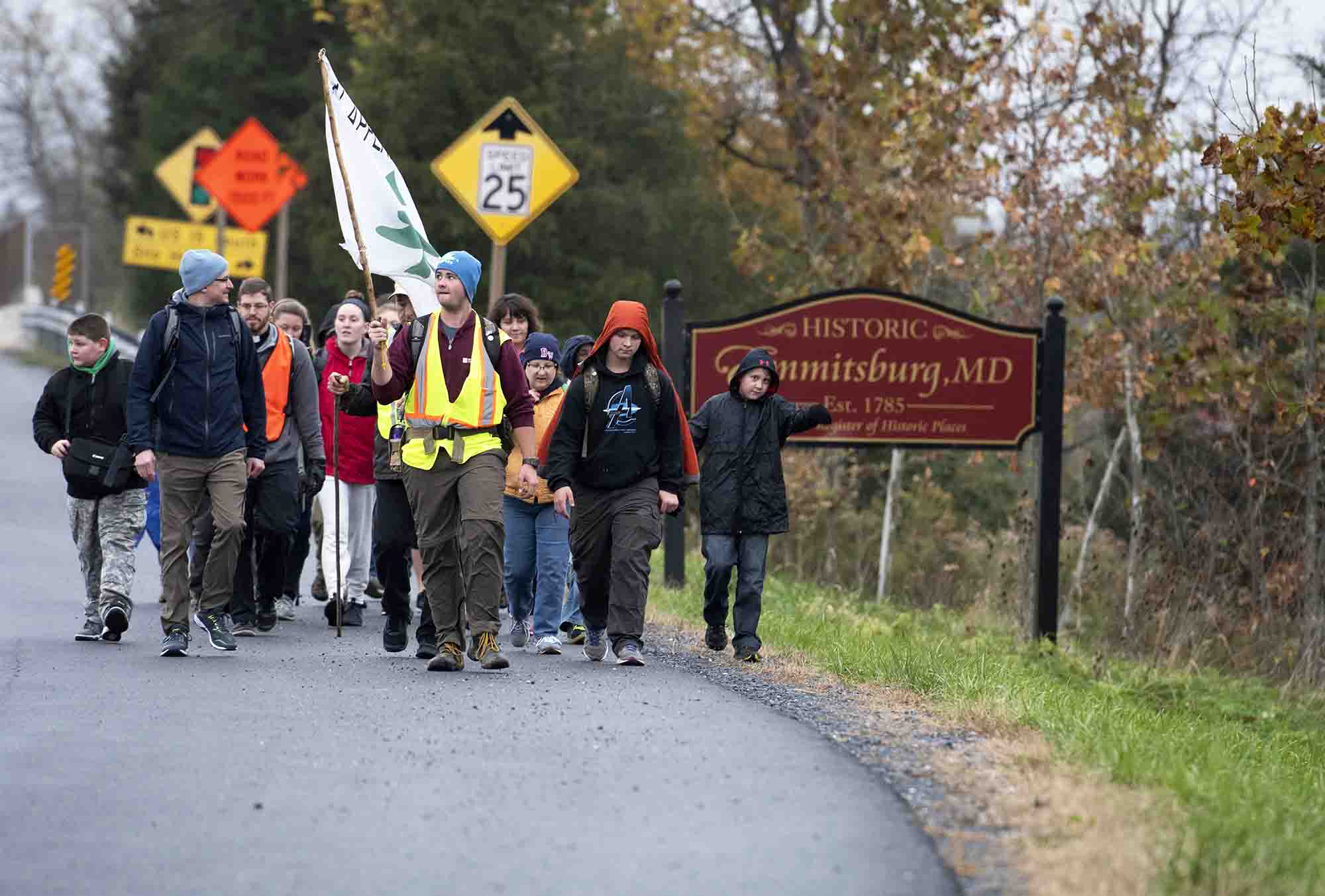 Pilgrims set out on 50-mile walk in penance, prayer from Emmitsburg to Baltimore