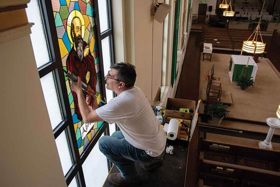 Brooklyn Stained Glass Studio Creates Windows For Liberty