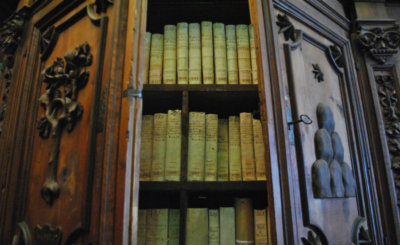 Books are pictured in a cabinet in the Vatican Apostolic Archives. Pope Leo XIII founded the Vatican School of Paleography, Diplomatics and Archive Administration in 1884, just a few years after he opened the archives to the world's scholars